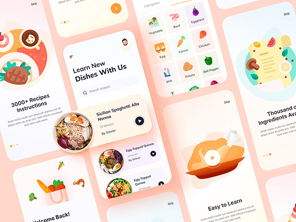 Online Cooking Learning mobile app