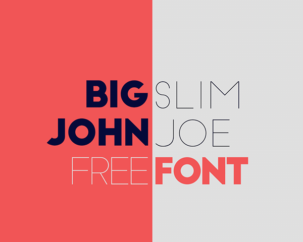 Big John Slim Joe Free Font Download