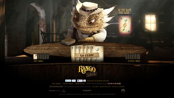 Rango Paramount Pictures Paramount movie websites Games