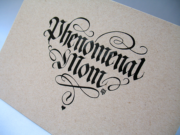 Calligraphy mother s day cards on behance