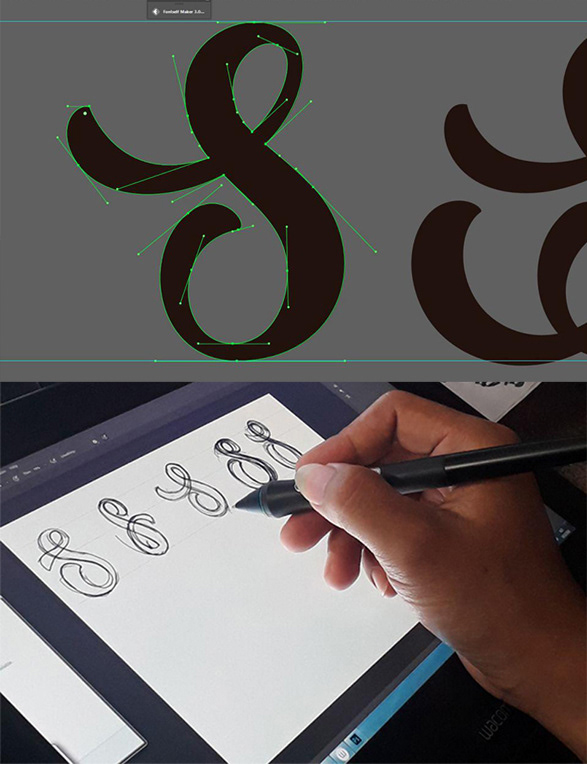 HAND LETTERING Typeface font lettering Calligraphy