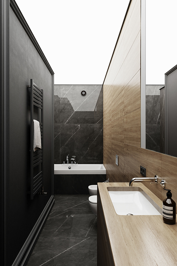 Black Marble Bathroom On Behance