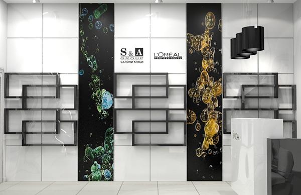 S a group beauty salon interior design on behance for Interior salon designs