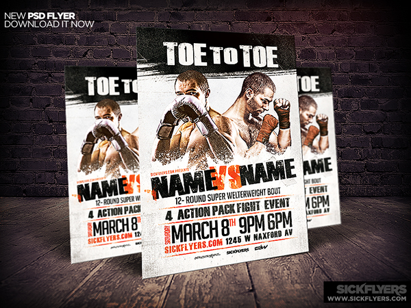 Boxing Flyer Template Psd On Behance