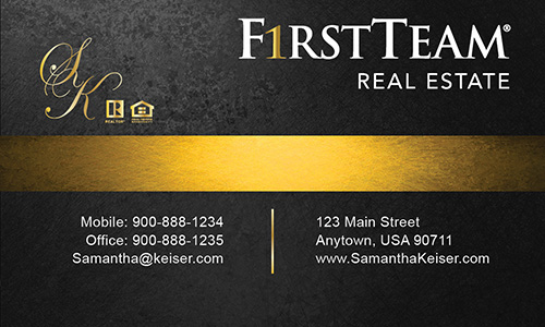 First team real estate business card on the art institutes portfolios first team real estate business card graphic design colourmoves