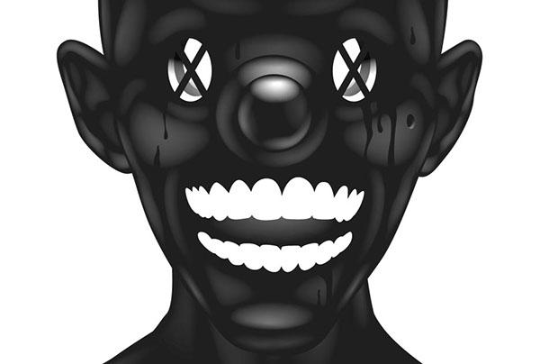 ustsinau black glosy White dark art