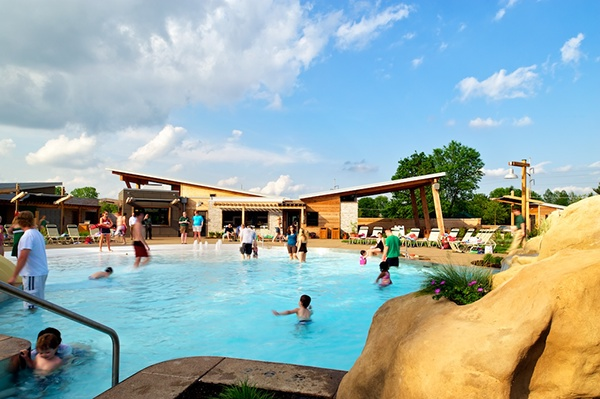 A new pool and recreation center sited in an existing - Highland park swimming pool westerville oh ...