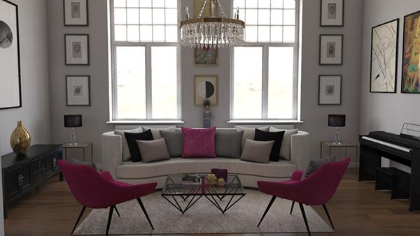 有獨特感的34套客廳牆壁顏色欣賞