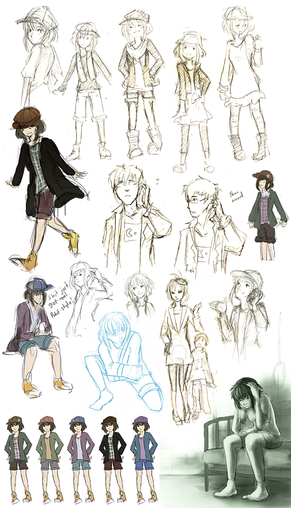 Character Design Help : Hungry whispers visual novel on behance