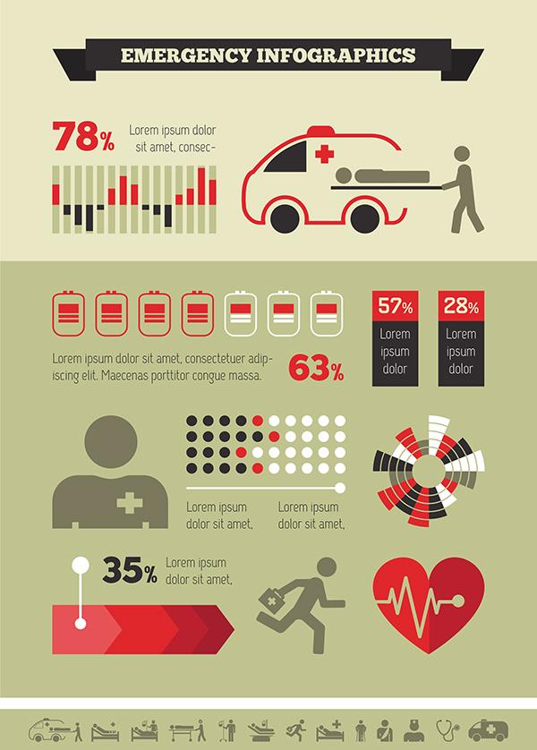 Medical Infographic Elements. Flat Design. On Behance
