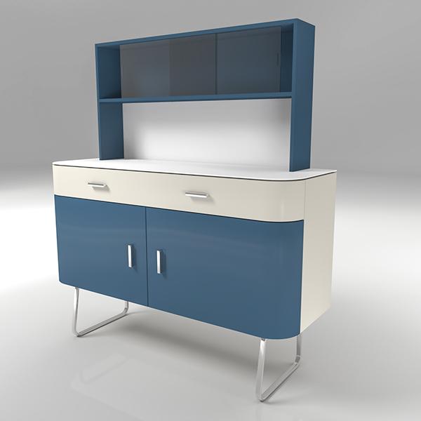 furniture sideboard interiors design CG concept FormZ Artlantis Project