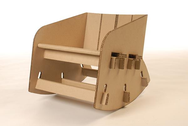 Cardboard Rocking Chair On Behance