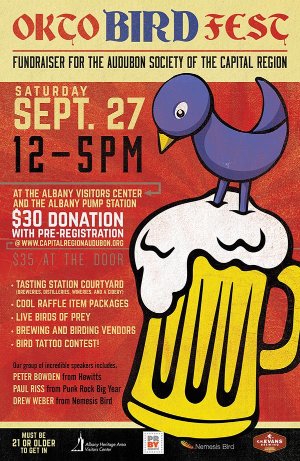 Oktobirdfest bird october beer Events Poster Design