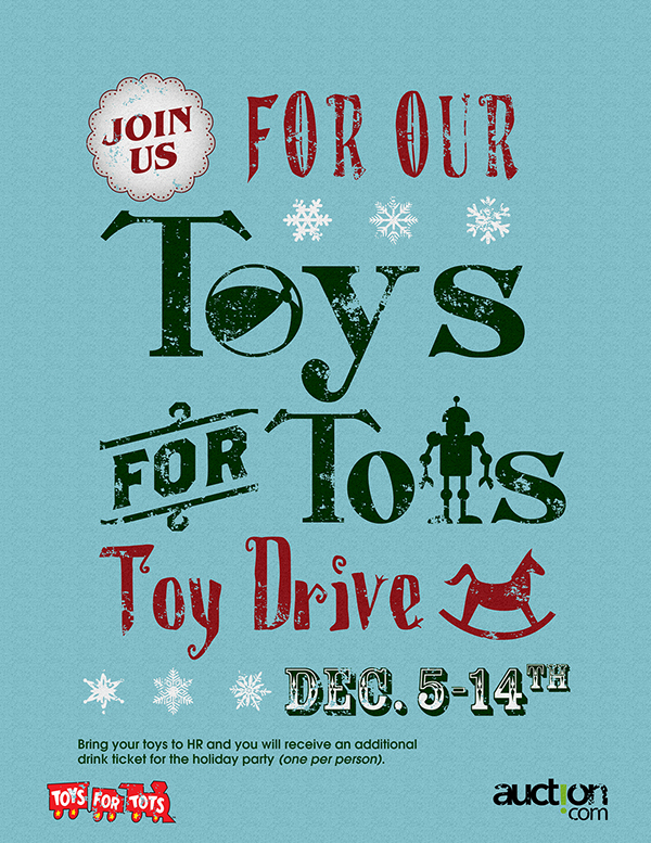 Toys For Tots Flyers : Auction marketing pieces on behance