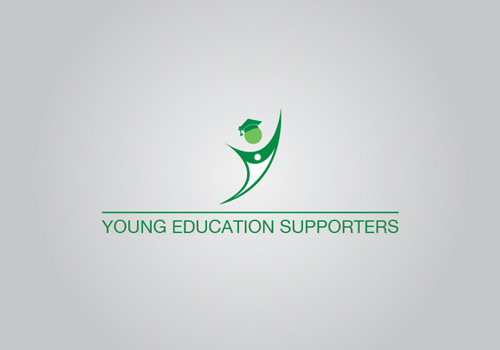 graphic design logo brand branding  yes yound Edcucation supporters TCF