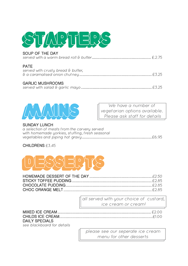 Food  Layout menu design graphics font