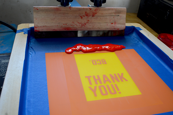 Screen Printed Thank You Cards On Pantone Canvas Gallery