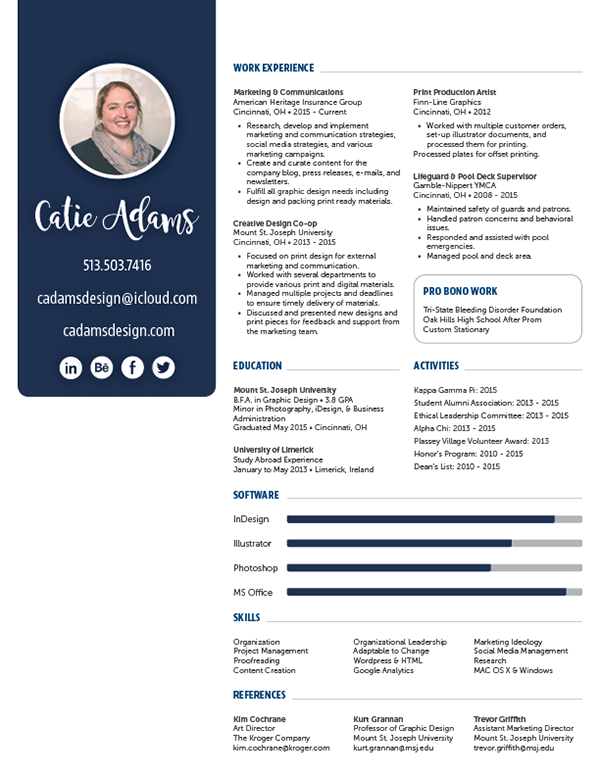 updated resume on behance