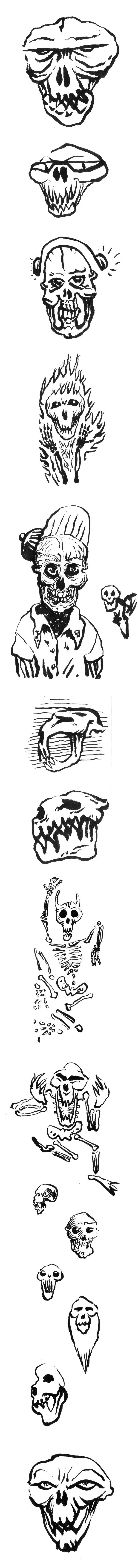 skull,Left hand,sketches