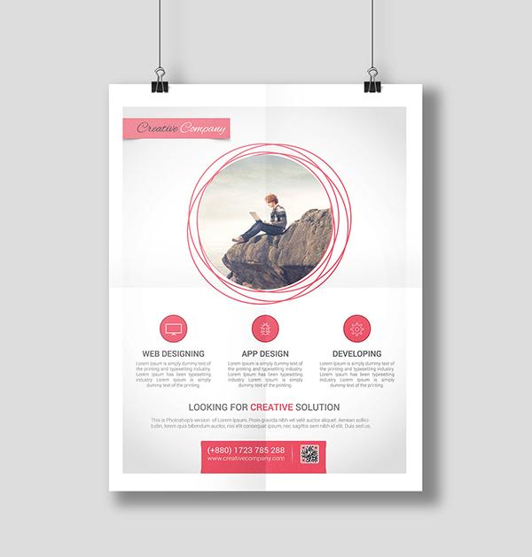 Modern Web/App Design Agency Flyer/Poster add agency agent bundle business flyer college color corporate flyer creative Custom design discount