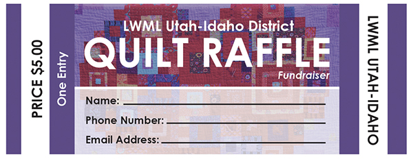 quilt raffle flyer and tickets for fundraiser on behance