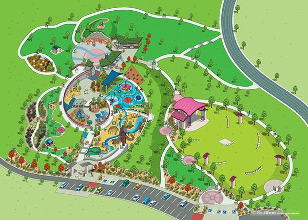 centennial center park map illustration on behance. Black Bedroom Furniture Sets. Home Design Ideas