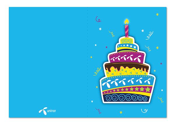 UNINOR Greeting Card Design on Behance – Birthday Card Design