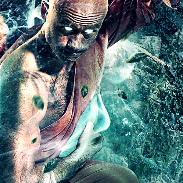 geno arguelles illuminate Photo Manipulation  wallpaper free tiger chinese temple Buddha monk Shaolin avatar air bender water