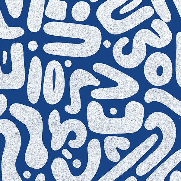 Abstract Blue Pattern Collection for textiles