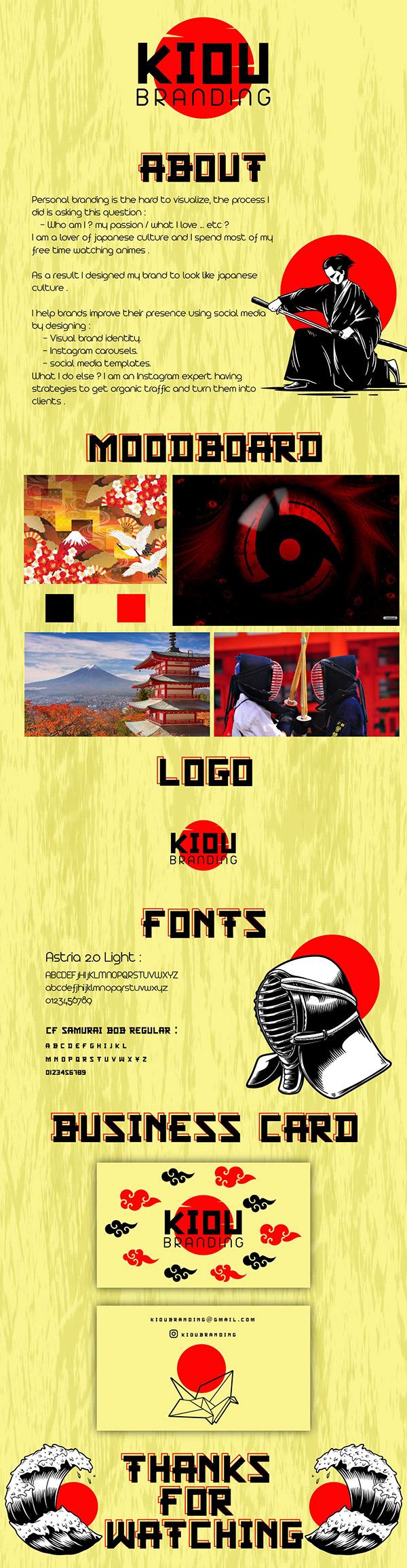 Personal brand identity - KIOU BRANDING