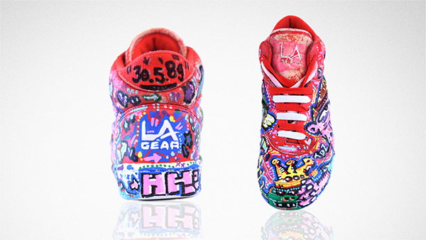 L.A. GEAR,Painted Sneakers,Abstracts,multi-coloured,trendiez,1054ers,berlin,hamburg,handpainted