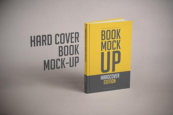 hardcover book mock