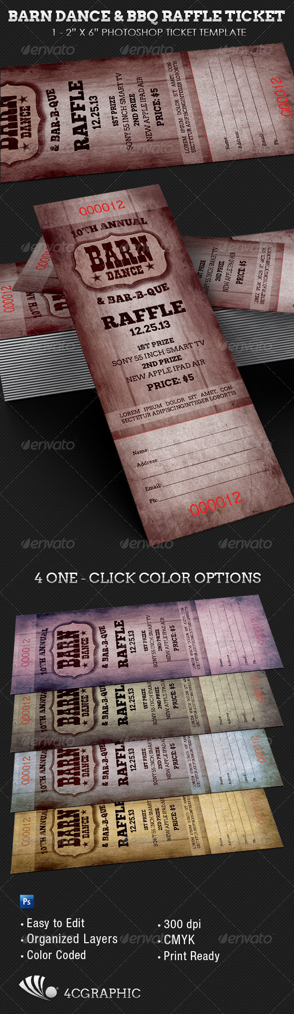 bbq ticket template free - barn dance bbq raffle ticket template on behance