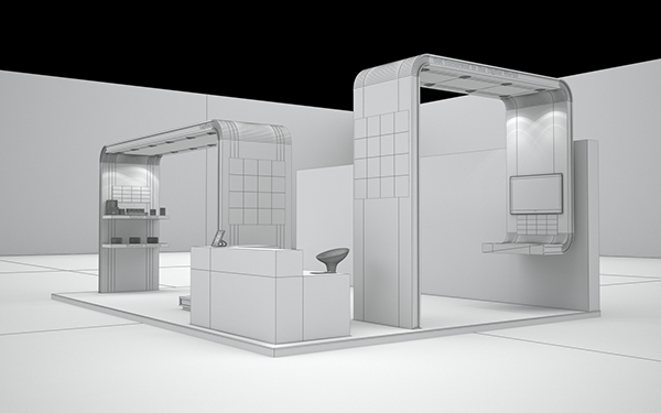 Exhibition Stall Mockup : Logitech exhibition stall on behance
