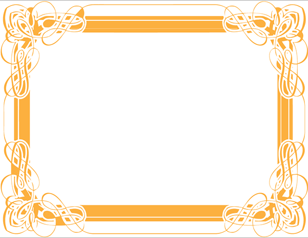 Certificate Design: Gold Swirls