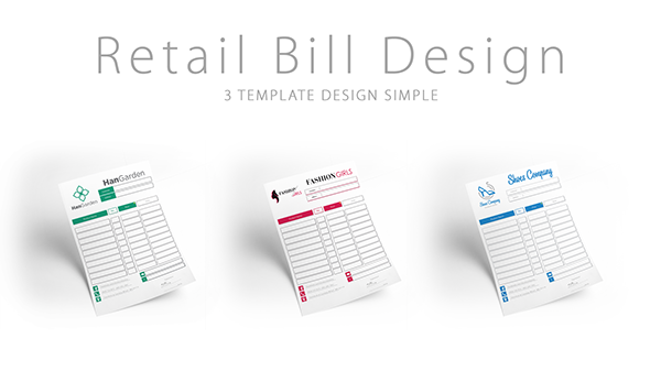 Retail Bill Template On Student Show
