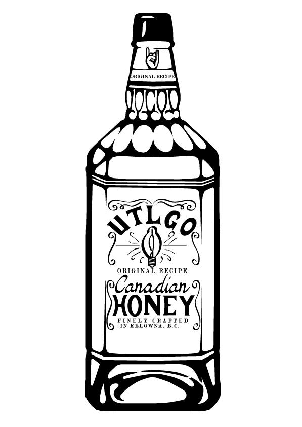 Until The Lights go out UTLGO t-shirt design t-shirt graphics vector art sketch art jack daniels honey jack  metal Canadian Metal bands apparel