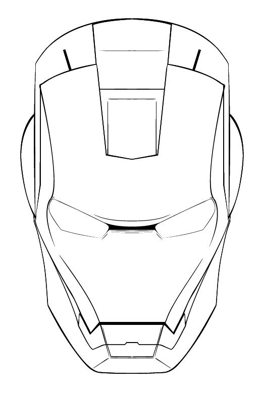 iron man mask sketch sketch coloring page