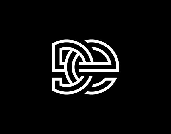 DE Connected Monogram Logo For Sale
