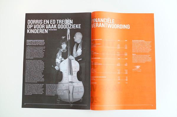 sven zijderveld Capaz marius regterschot utrecht Stichting TIK annual report paper News Paper graphic design orange typographic