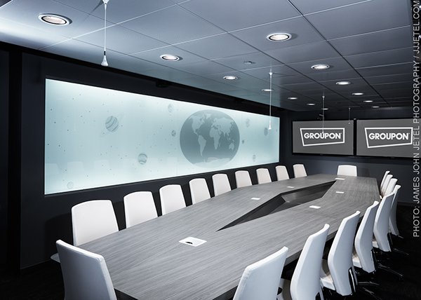 Groupon Board Room, Chicago, IL Architect: Box Studios on Behance