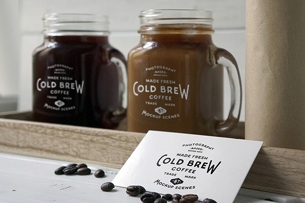 Cold Brew Coffee PSD Mockup on Behance