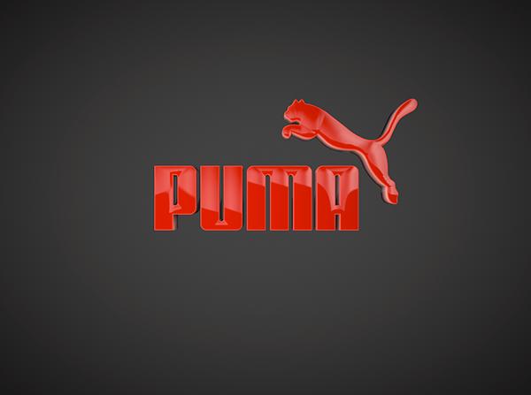 Red Logo Brand Puma Logo Animation Branding