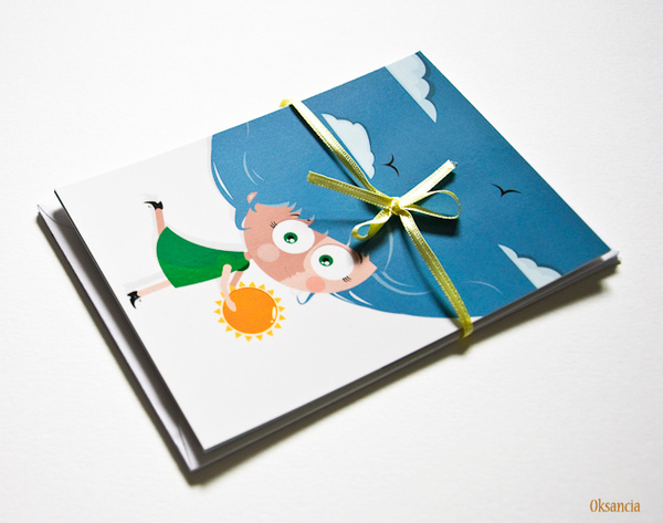 vector digital Character children's illustration animals postcards cards print