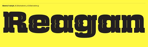 font Typeface masculine slab serif square compact high x-hight thin Heavy legible magazine Retro swiss 1970s 1960s