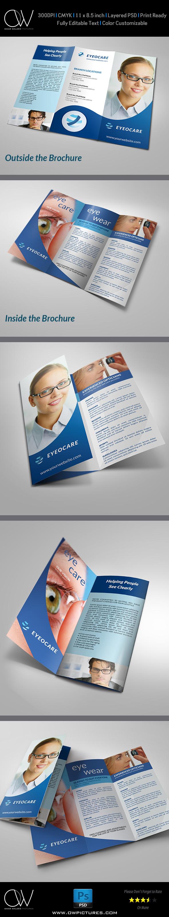 Optometrist & Optician Tri-Fold Brochure Template on Behance
