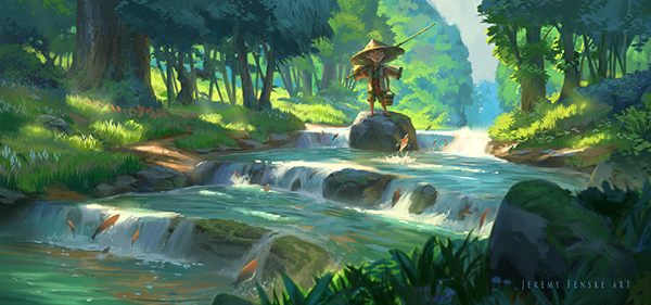 Creek Fishing by Jeremy Fenske