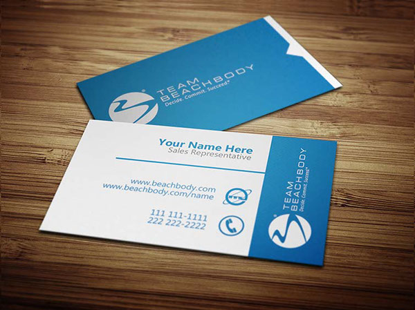 Beachbody business cards on behance thank you colourmoves Gallery
