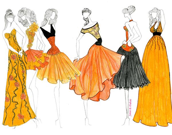 fashion illustration colour pencil sketches www