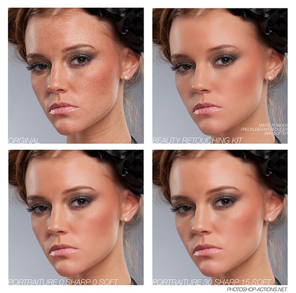 Beauty Retouching Kit (Photoshop Actions) on Behance